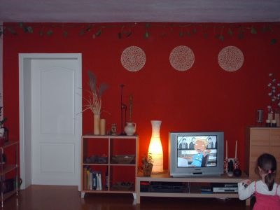meine rote wand wandgestaltung forum ef. Black Bedroom Furniture Sets. Home Design Ideas